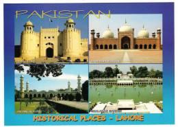 165L-Postcard, Historical Places Lahore Pakistan, Mint - Pakistan