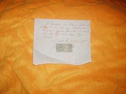 RECU ANCIEN DATE ?. / LARODDE. / + TIMBRE - Vieux Papiers