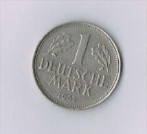 Germany 1 Mark 1962 F - [ 6] 1949-1990 : RDA - Rép. Démo. Allemande