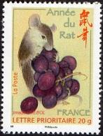 France Fêtes N° 4131 ** 2008 Nouvel An Chinois : Année Du Rat Et Grappe De Raisin - Anno Nuovo Cinese