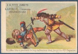 Chromo à La Petite Jeannette Boulogne Sur Mer Litho Ch Gauthier C.G. Paris Duel épée 5 Celui Qui Pourfendit ... Escrime - Chromo