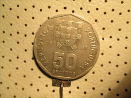 PORTUGAL 50 Escudos 1989  # 2 - Portugal