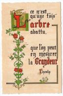 Philosophie Et Pensées--ARBRE Et GRANDEUR--par Lincoln   N° L 31   éd Roussel - Philosophie & Pensées