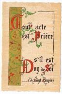 Philosophie Et Pensées--PRIERE Et DON DE SOI--par A De Saint Exupéry   N° T 2   éd Roussel - Philosophie & Pensées