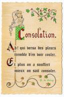 Philosophie Et Pensées--CONSOLATION--par P De BELLOY   N° C 5   éd Roussel - Philosophie & Pensées