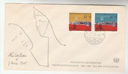 1963 LIECHTENSTEIN FDC REFUGEE YEAR Ovpt Stamps Cover - FDC