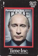 Carte Japon - VLADIMIR PUTIN / Politique Politics RUSSIA Rel. Japan QUO Card Presse Série TIME Person Of The Year VIP - Personen