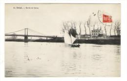 YVELINES  /  TRIEL  /  BORDS  DE  SEINE  ( Pont Suspendu Et Voilier ) /  Edit.  L' ABEILLE , Asnières  N° 10 - Triel Sur Seine