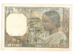 Madagascar 100 Fr, VF!!!! See Scan. - Madagascar