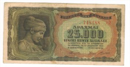 Greece, 25000 Apaxm. 1943, VF. - Grecia