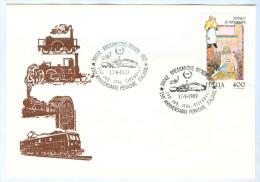 Kuvert Bressanone Brixen 17.9.1989 150 Anniversario Ferrovie Italiane Südtirol Sonderstempel Italien Italia Alto Adige - Affrancature Meccaniche Rosse (EMA)