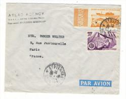 """SAINT-PIERRE-et-MIQUELON  /  ENVELOPPE  COMMERCIALE  """" ATLAS  AGENCY """" Vers  Ets. ROGER WELTER  ( Beaux Timbres ) - Saint-Pierre-et-Miquelon"""