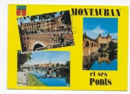 MONTAUBAN EN 1975 - N° 47 - LES PONTS - MULTIVUES - CPSM GF VOYAGEE - Montauban