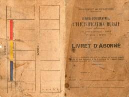 Livret D'abonné Service Départemental D'électrification Rurale. 1970 ....   1975 - Non Classés