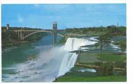 CPSM American Falls & Rainbow Bridge - Columbus