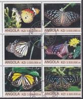 ANGOLA, 2000 BUTTERFLIES BLOCK 6 CTO - Angola