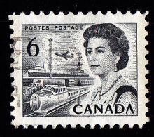 CANADA - Scott #460p Queen Elizabeth II, Type II «Perf. 12» (*) / Used 'Tagged' Stamp - Oblitérés