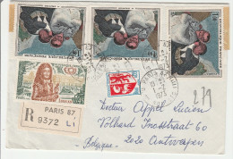 Paris 87 - Lettre Recommandée Avec étiquette 1973 - 1961-....