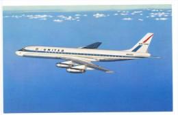 CPSM  United Air Lines DC-8 Jet Mainliner - Flugzeuge