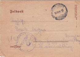 Feldpost WW2 From Unknown Unit P/m 12.9.1944 - Letter Inside   (G58-70) - Militaria