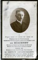 Moresnet Souvenir Chevalier E. De Résimont Dcd Château De Bempt 07.10.1924 - Devotion Images