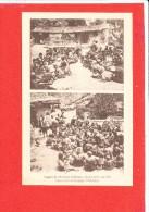 TIBET FETE Cpa Animée Agapes De Chrétiens Réunis  Edit M E - Tibet