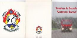 Pochette 20 CPM 10X15  POMPIERS De Bruxelles ( Véhicules) - Sapeurs-Pompiers