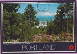 Usa °° Orégon - Portland - Depuis Washington Park Le Mont Hood - écrite ... Oblitérée Flamme - Portland