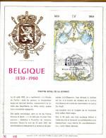 Feuillet D´art Tirage Limité 500 Exemplaires Frappe Or Fin 23 Carats Bloc 55 1983 Théâtre Royal De La Monnaie - Panes