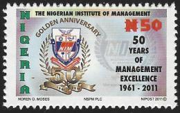 Nigeria 2011 Golden Anniversary Institute Of Management MHN Mint Set - Nigeria (1961-...)