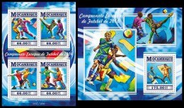 MOZAMBIQUE 2015 - Football UEFA Cup In France. M/S + S/S. Official Issue - Fútbol