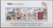 """PIA  -  ITALIE  -  1997  : Esposizione Mondiale Di Filatelia """"Italia  98"""" - Foglietto  -     (SAS  Bf 19 ) - 1991-00: Usati"""