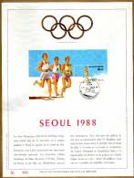 Feuillet D´art Tirage Limité 500 Exemplaires Frappe Or Fin 23 Carats 2287 Bloc 64 Jeux Olympiques Séoul - Panes