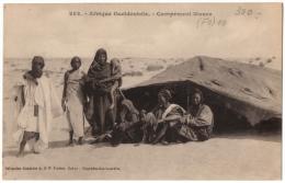 CPA Afrique Occidentale. 282. Campement Maure (jolie Animation) - Ed. Fortier - Ansichtskarten