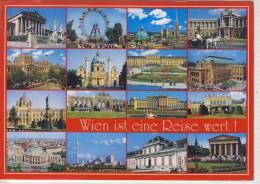 WIEN Ist Eine Reise Wert, Mehrbildkarte, Nice Stamp Panda,  Großformat - Wien