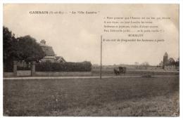 "CPA 78 - GAMBAIS (Yvelines) - La ""Villa Landru"" (petite Animation, Attelage) - France"