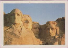 Usa °° Dakota - Mont Rushmore . Sanctuaire De La Démocratie - Les Têtes Des 4 Présidents -  écrite . Trace En Haut - Mount Rushmore