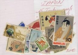 JAPON #  VRAC DE 28 TIMBRES # DONT 15 NEUFS ET 13 OBLITERES # + 1 BLOC ISE SHIMA NATIONAL PARK 1953 # - Collections, Lots & Séries