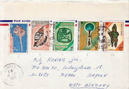 Postal History Cover: New Caledonia Cover With Shells, Art Stamps - Conchiglie