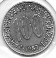 100 Dinara 1987  Clas D 120 - Yougoslavie