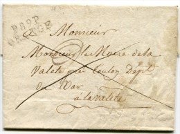 VAUCLUSE De CADEROUSSE LAC Du 29/01/1813 Linéaire P89P ORANGE  ( Entête De La Mairie) - Marcophilie (Lettres)