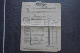 Avertissement Du Percepteur Pour L'acquit Des Contributions Affranchi Paire 1c Type Blanc Oblitération Roujan Hérault - 1877-1920: Periodo Semi Moderno