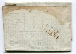 SOMME De AMIENS Impirmé Avec Prix De Marchandises Du 5/11/1813+ Linéaire P76P AMIENS - Storia Postale