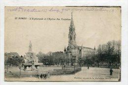 FRANCE - AK 252061 Nimes - L'Esplanade Et L'Eglise Ste Perpétue - Nîmes