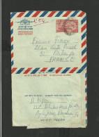 Entier Postal Inde Aérogramme Illustration Gandhi - Aerogrammen