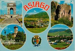 ASIAGO   MULTIVEDUTE CON STEMMA      (VIAGGIATA) - Italia