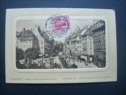Strasbourg Place Gutemberg - Carte Cuvette  Circulée 1912 L233 - Strasbourg