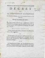 8 Déc.1793 - LIBERTÉ DES CULTES - S´abstenir De Toutes Disputes Théologiques Ou étrangères - Manifeste Des Rois Ligués - Documentos Históricos