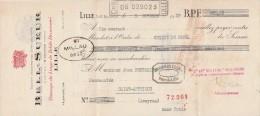 Lettre Change 5/10/1929 BELL SUEUR Tissage Linge De Table LILLE Nord Pour St Affrique Aveyron - Lettres De Change