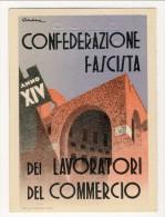 Tessera Della Confederazione Fascista Dei Lavoratoiri Del Commercio Anno XIV (1936) - Documenti Storici